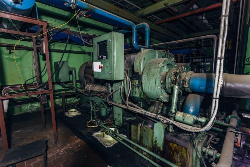 Industriell centrifugal kompressor fotografering för bildbyråer