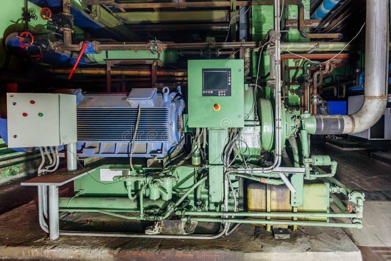 Industriell centrifugal kompressor royaltyfria foton