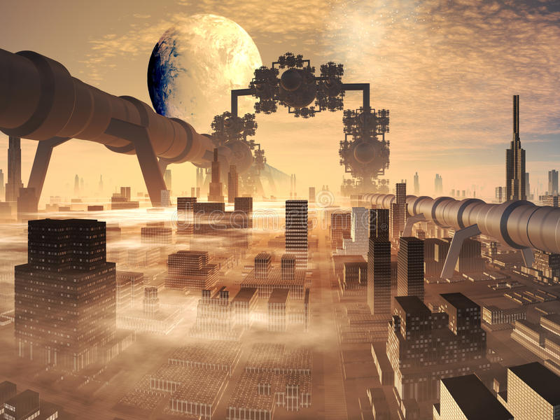 industriell evolution stock illustrationer