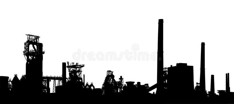industriell förgrund stock illustrationer