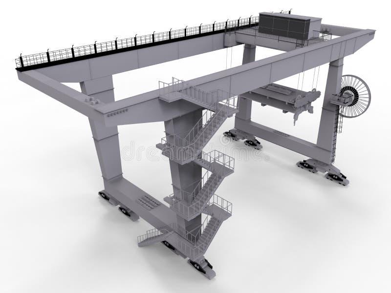 Industriell fabrikskran stock illustrationer