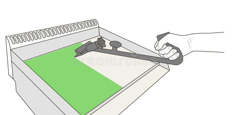 Industriell gallerlokalvård med den speciala utrustningvektorillustrationen royaltyfri illustrationer
