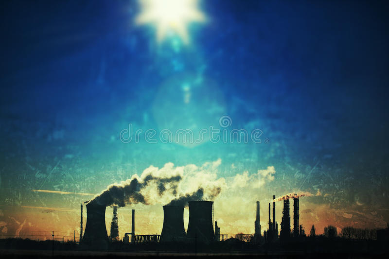 Industriell Grunge landskap arkivfoto