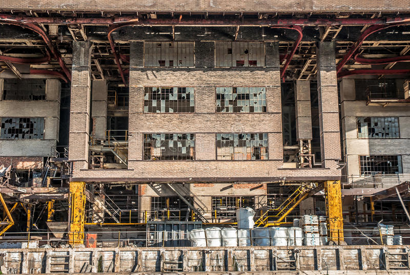 Industriell kemisk växt royaltyfria bilder