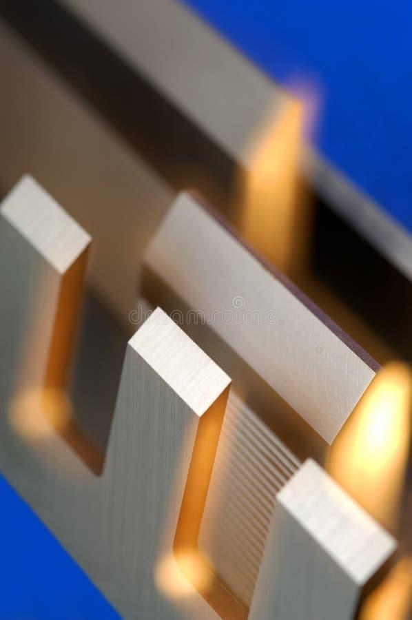 industriell kniv för detalj arkivfoto