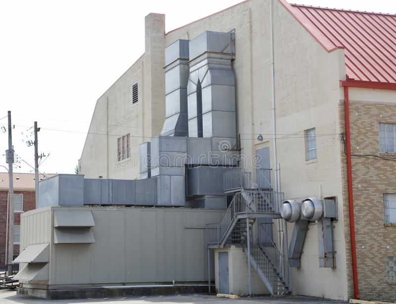 Industriell kommersiell kvalitet för HVAC-enhet royaltyfri fotografi