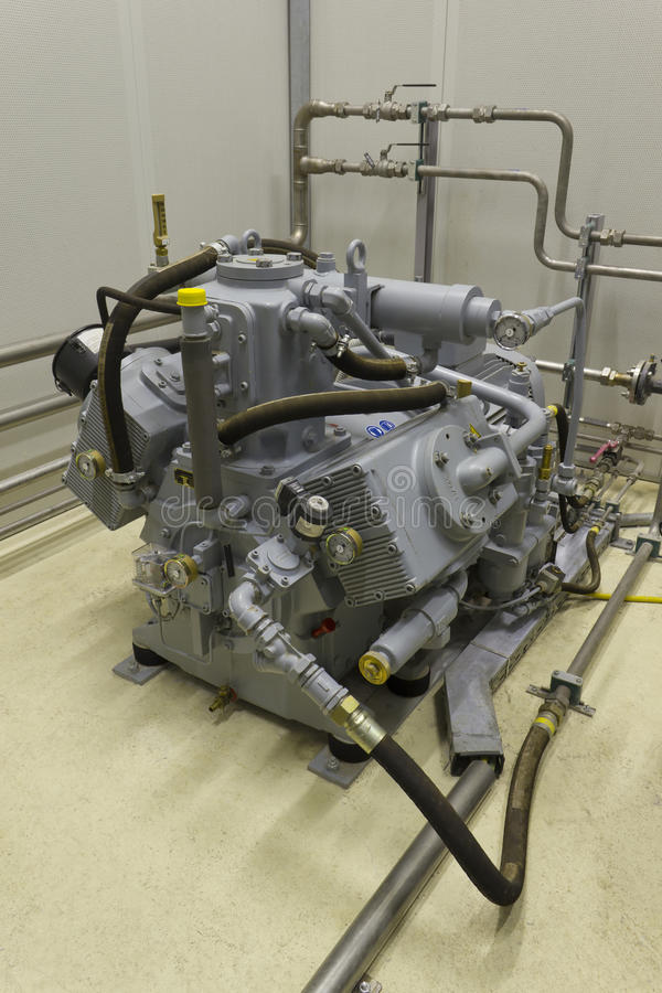 industriell kompressor royaltyfri fotografi