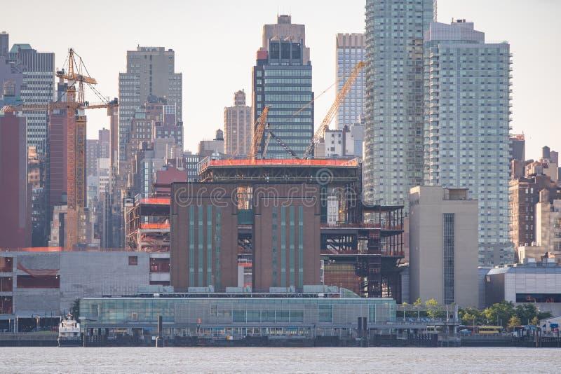 Industriell konstruktion i New York royaltyfri foto