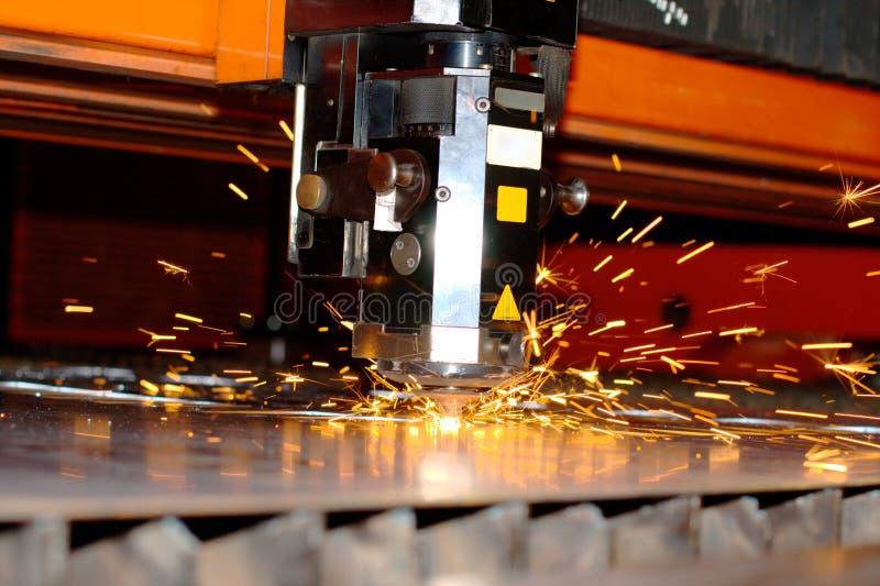 industriell laser arkivfoto