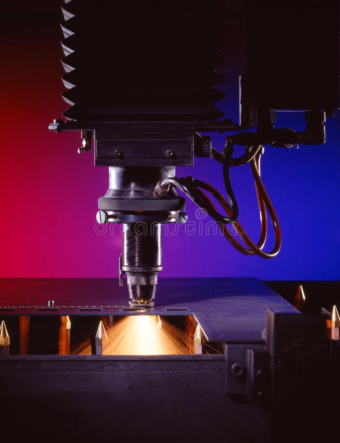 industriell laser för skärare arkivbilder