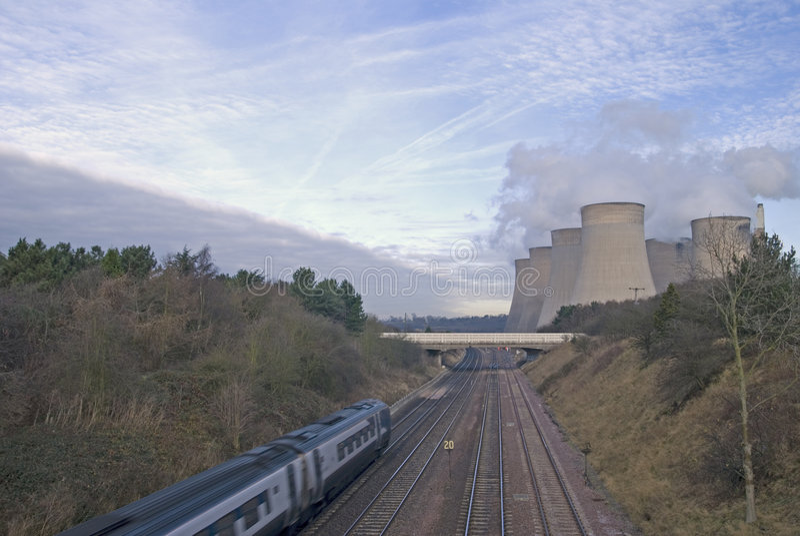 industriell liggande modern uk royaltyfri fotografi