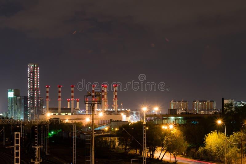 industriell liggandenatt royaltyfri fotografi