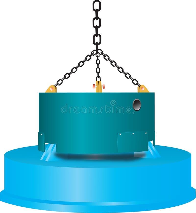 industriell magnet vektor illustrationer