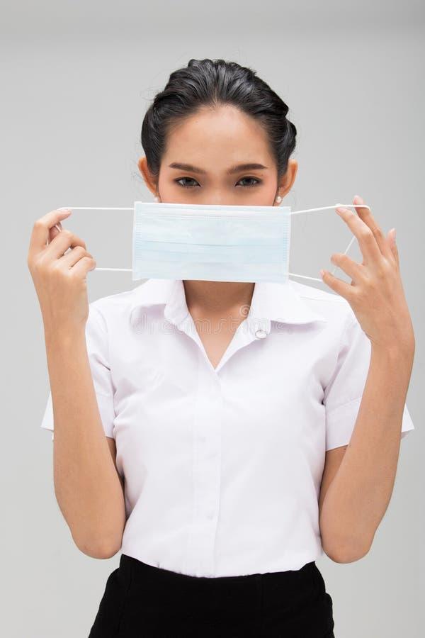 Industriell maskering e.m. 2 för universitetsstudenträkning 5 royaltyfri fotografi