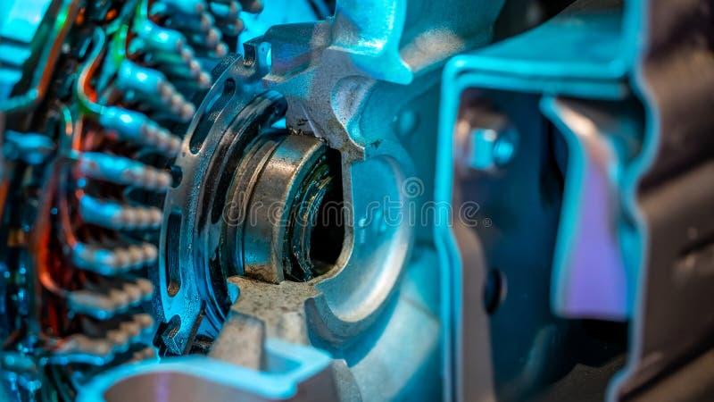Industriell mekanisk apparat för motordel arkivbild