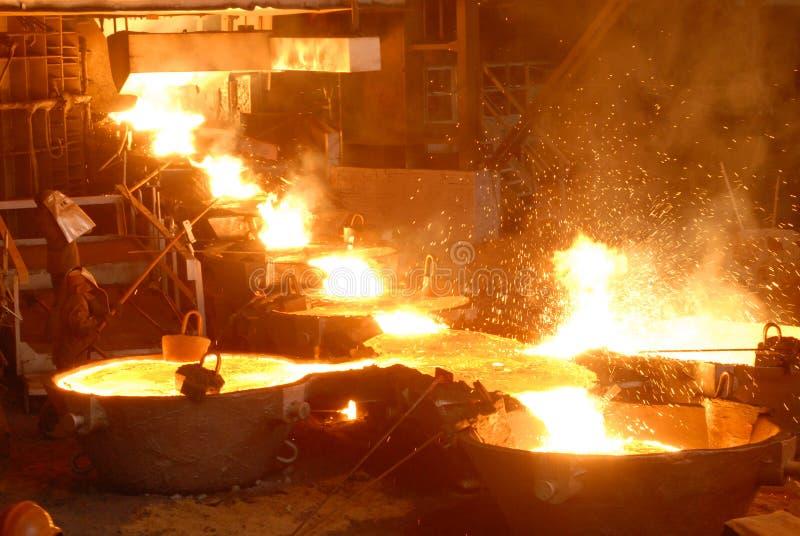 industriell metallurgy royaltyfria foton