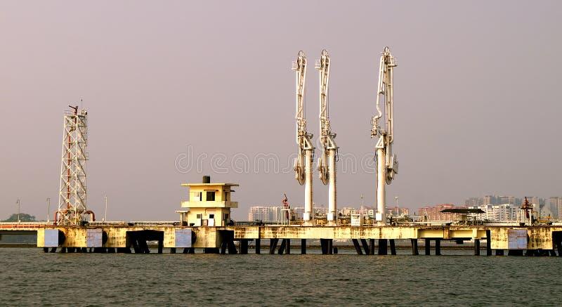industriell port royaltyfri bild