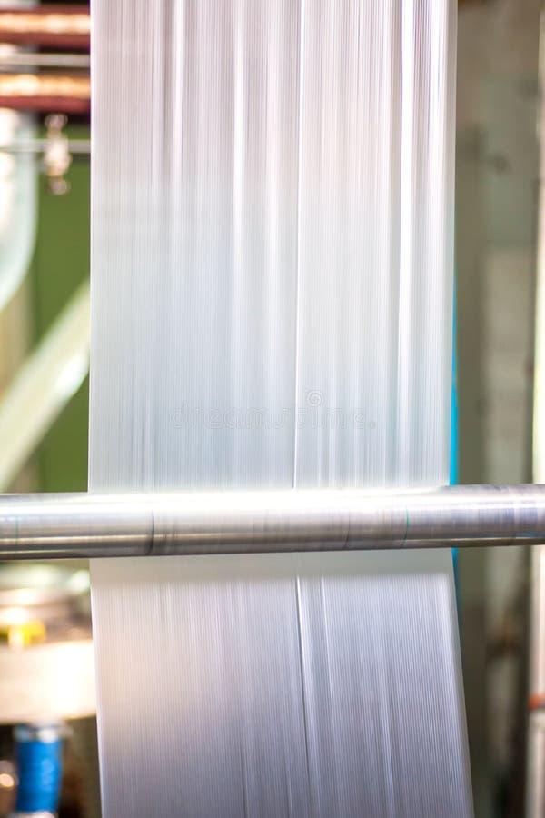 Industriell produktion av plastpåsar Utrustning för tillverkning av fotografering för bildbyråer