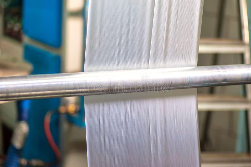 Industriell produktion av plastpåsar Utrustning för tillverkning av arkivfoton