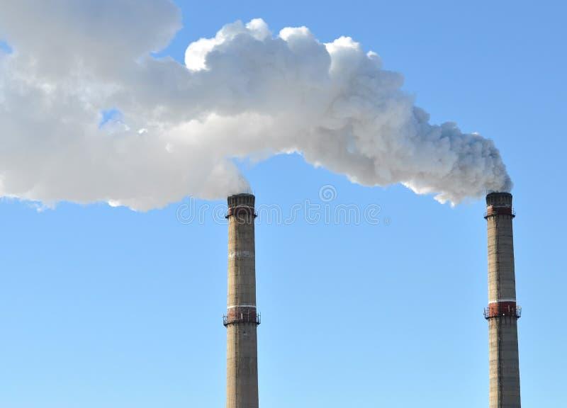 industriell rök för lampglas royaltyfri foto