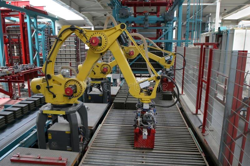 industriell robot royaltyfri foto