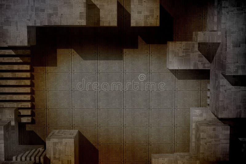 Industriell rostig bakgrund vektor illustrationer