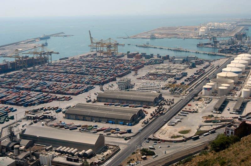 industriell seaport royaltyfria bilder