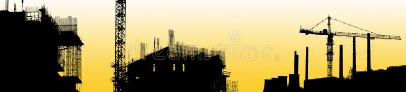 industriell silhouette för område arkivfoton