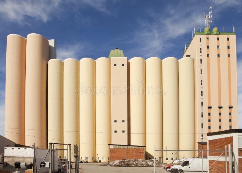 industriell silo arkivfoton