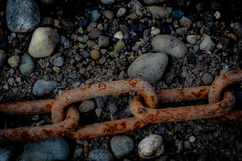Industriell-Stärke Rusty Chains Will Edure stockbild