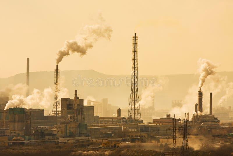 industriell stad royaltyfri foto