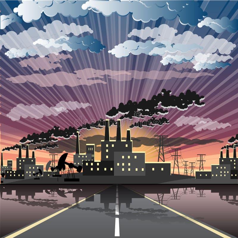 industriell stad vektor illustrationer