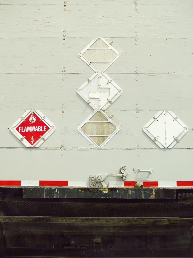industriell stor bakre lastbilsikt för last royaltyfria foton