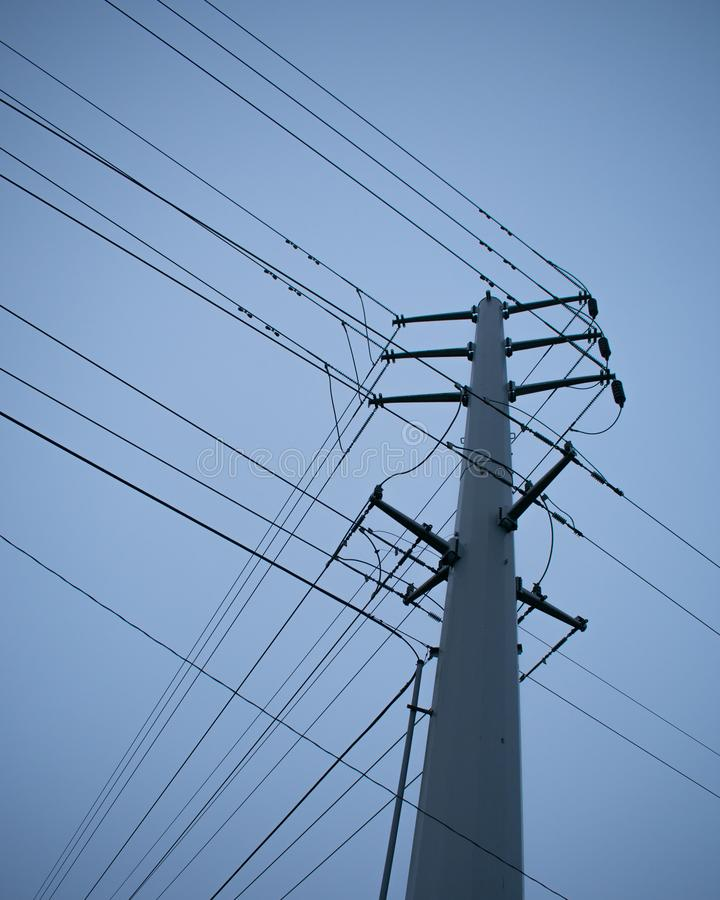Industriell telefon Pole royaltyfria bilder
