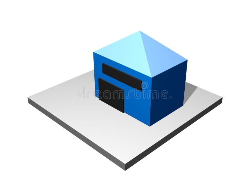 industriell tillverkning för diagramfördelare stock illustrationer