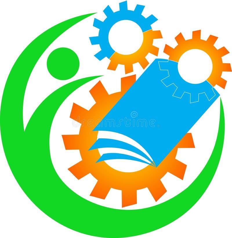 Industriell utbildningslogo vektor illustrationer