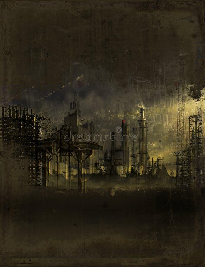 Industriell wasteland fotografering för bildbyråer