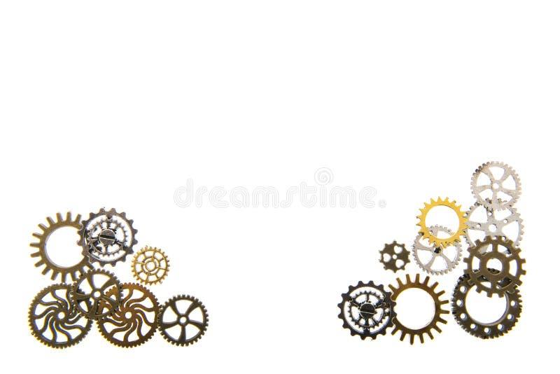 Industriella hjul på vit royaltyfri bild
