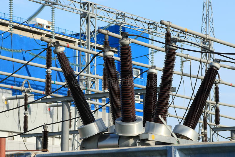 Industriella isolatorer royaltyfria foton