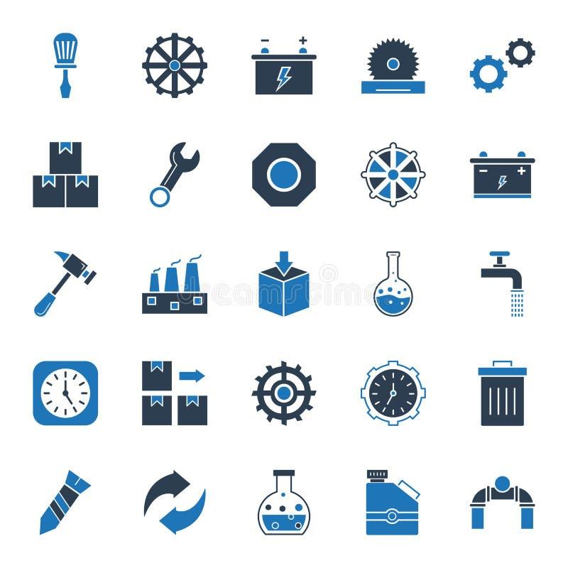 Industriella isolerade vektorsymboler som kan lätt ändras eller redigera stock illustrationer