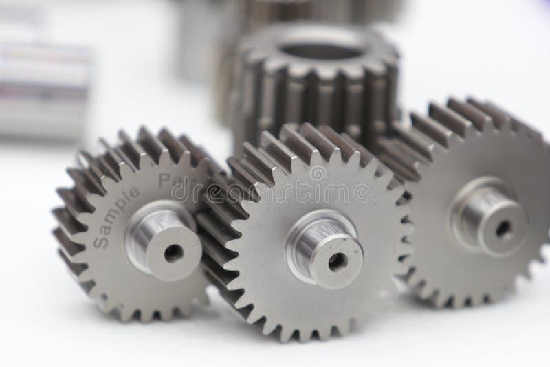 Industriella kugghjulreservdelar för tung maskin fotografering för bildbyråer