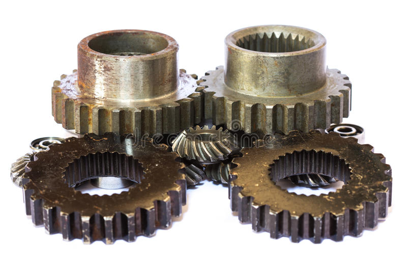 Industriella metallkugghjul arkivbilder