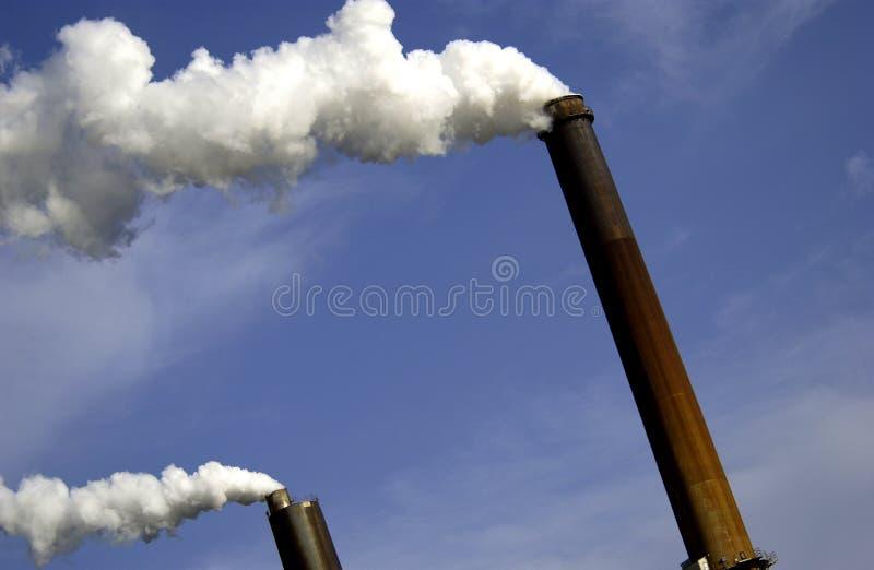 industriella rökbuntar royaltyfri illustrationer