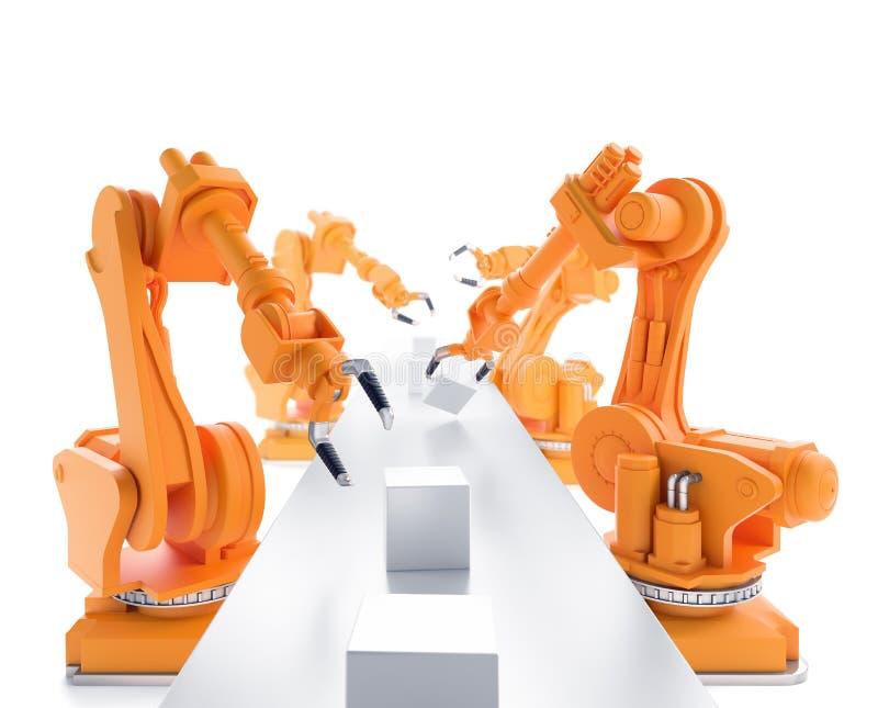 Industriella robotar royaltyfri illustrationer