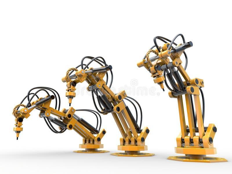 Industriella robotar vektor illustrationer