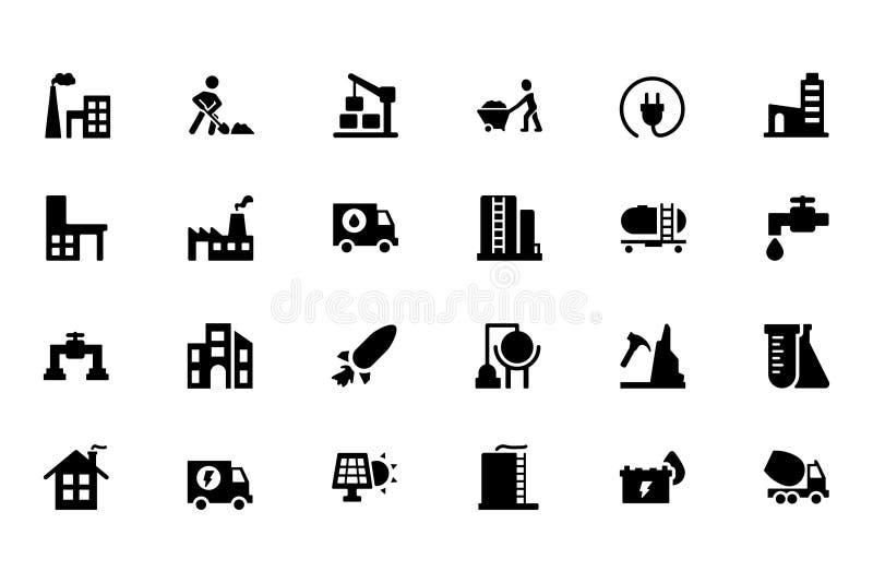 Industriella vektorsymboler 4 vektor illustrationer