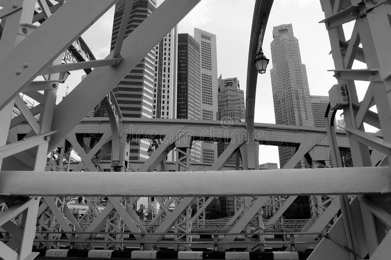 Industrielle Ansicht Singapurs lizenzfreies stockfoto