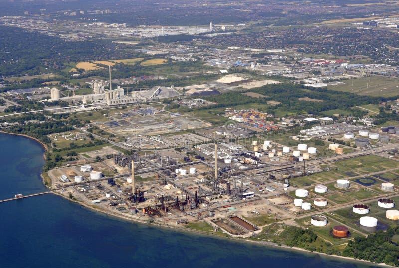 Industrielle Antenne Mississauga stockfoto