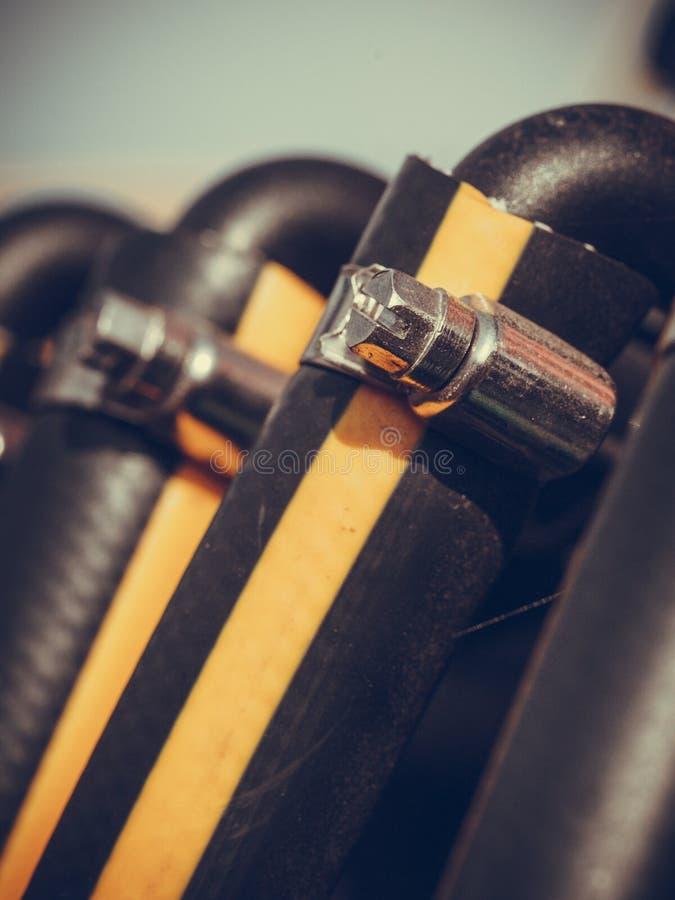 Industrielle ausf?hrliche pneumatische, hydraulische Stahlpumpe lizenzfreies stockbild