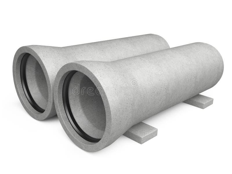 Industrielle Betonrohre für Abwasserkanal stock abbildung